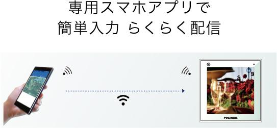 専用スマホアプリで簡単入力 らくらく配信